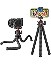 ULANZI MT-33 Phone Tripod, Mini Flexible Tripod with Cold Shoe & Universal Clip, 1/4'' Screw for Magic Arm, Multifunctional Octopus Camera Tripod for iPhone Android GoPro, Lightweight for Travel