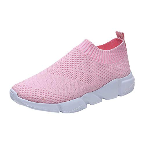 Zapatillas Sneaker Malla Transpirable De Mujer Moda Minetom Running Pink Deportivos Zapatos Casual Agujero Planos 8AnEqZ