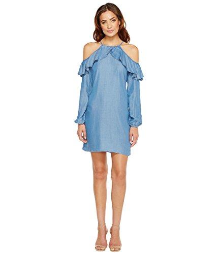 [マイケル マイケルコース] MICHAEL Michael Kors レディース Cold Shoulder Dress ドレス Light Cadet Wash XL [並行輸入品]