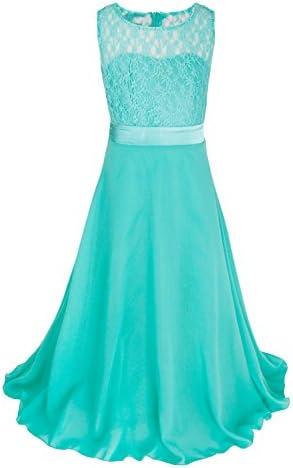 9b32ea7b115 CHICTRY Big Girls Chiffon Lace Party Wedding Bridesmaid Dress Junior Maxi  Dance Ball Gown