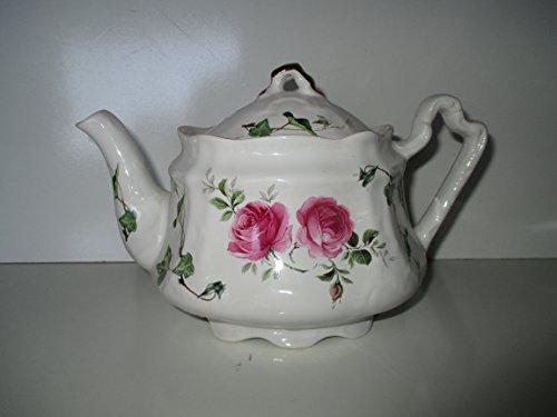 Arthur Wood & Son -6426 - Rose and Vines Teapot