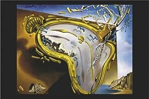Salvador Dalí - El Reloj Derretido de Montre Molle. Maxi poster artístico de PAPEL. Medidas aprox. 91,5 x 61 cm.