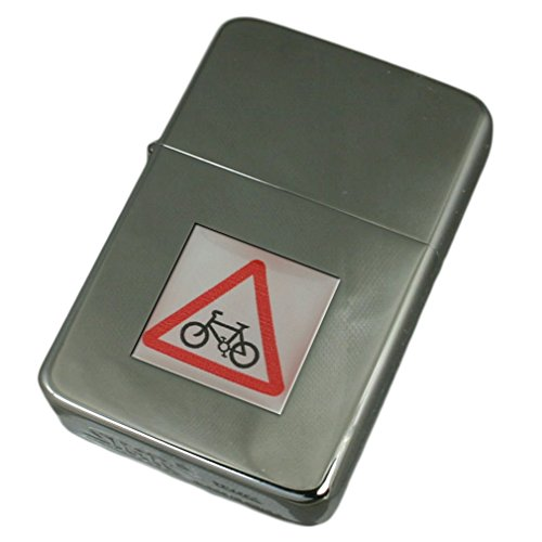 Engraved Lighter Bicycle Road Sign by Select Gifts