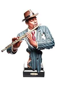 Abstractive Flute Player Sculpture Musician Statue