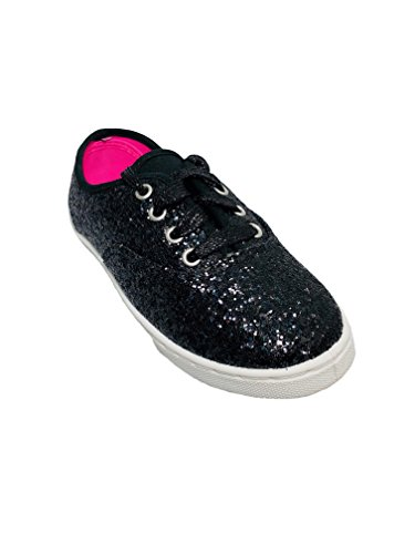 Price comparison product image Girls' Canvas Lace-up Casual Shoe (13, Black)