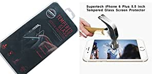 Supertech(TM) Ultra 9H 2.5D 0.33mm Tempered Glass Screen Protector For iPhone 6 (iPhone 6 Plus 5.5 Inch)