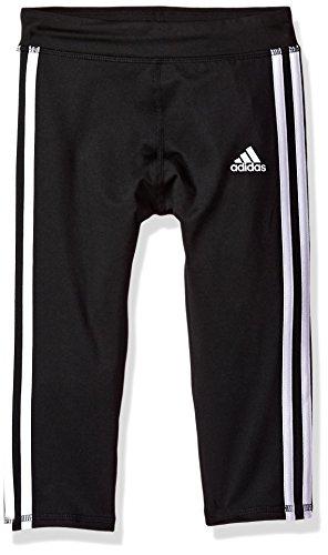 adidas Girls' Little Capri Legging, Black Adi, 5