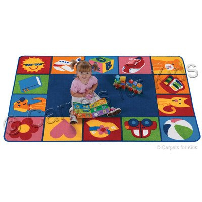 Printed Toddler Blocks Kids Rug