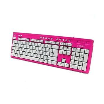 Teclado Perixx 203, Teclas Multimedia, Color Rosa, USB.: Amazon.es: Electrónica