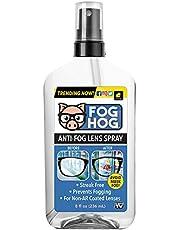 Fog Hog Anti-Fog Lens Spray for Non-Anti-Reflective Lenses by BulbHead — Prevents Fogging of Glass or Plastic Eyeglasses, Sunglasses, Goggles, Ski Masks & More — Streak-Free Protection — 8-oz