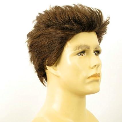 Peluca hombre cabello 100% natural castaña ALBERT 8