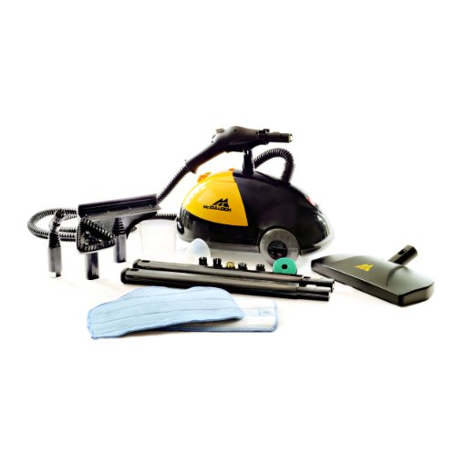 McCulloch MC1275 Heavy-Duty Steam Cleaner with 18 Accessories – All-Natural, Chemical-Free Pressurized Steam Cleaning for Most Floors, Counters, Appliances, Windows, Autos, and More