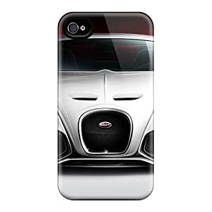 Iphone 4/4s Hard Back With Bumper Silicone Gel Tpu Case Cover Bugatti Veyron Concept