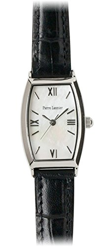 PIERRE LANNIER watch Tonneau Watch Silver / Croco embossed black P131D690 C32 Ladies