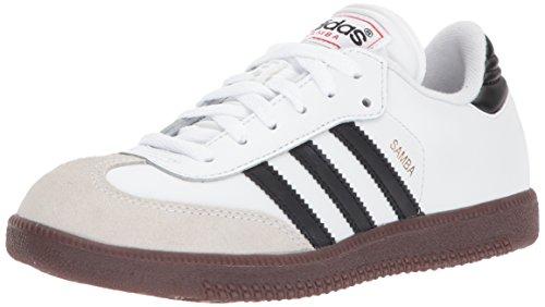 adidas Samba Classic Leather Soccer Shoe (Toddler/Little Kid/Big Kid),White/Black/White,2 M US Little Kid (Shoes Girls Toddler Kids Leather)