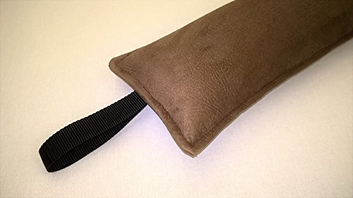 Handmade to order in the UK Faux Suede Fabric Draught Excluder Brown Door Snake Buckwheat Filled to 36 LilleyBee