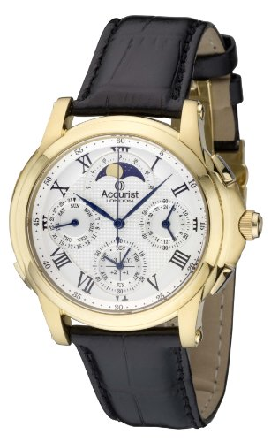 Accurist GMT320W Mens Grand Complication Greenwich Commemorative Collection Watch