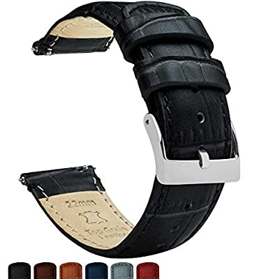 Barton Alligator Grain - Quick Release Leather Watch Bands - Choice of Colors - 18mm, 20mm & 22mm Straps from Barton Watch Bands