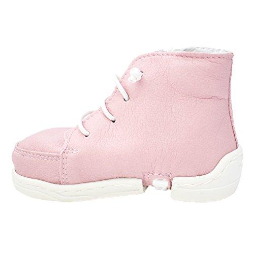 mokki Sneakers Babyschuhe, Lauflernschuhe, Krabbelschuhe, Krippeschuhe, mit innovativem Reißverschluß Rosa