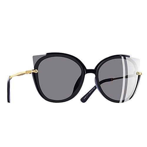 A106 Glasses (Dormery Polarized Sunglasses Women Unique Frame Cat Eye Sun Glasses Gafas UV400 A106 C3Silver)