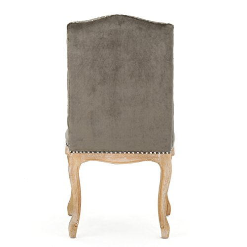 Cello Grey New Velvet Dining Chairs (Set of 2) by Great Deal Furniture (Image #7)