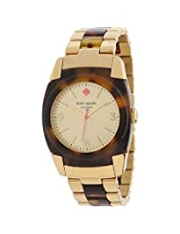 Kate Spade Skyline Gold Dial Gold-tone Stainless Steel and Tortoise-shell Resin Ladies Watch 1YRU0282