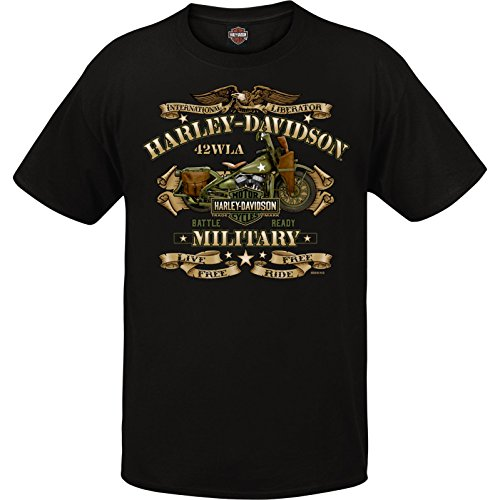Harley-Davidson Military Men's Graphic T-Shirt - Overseas Tour | War Bike -