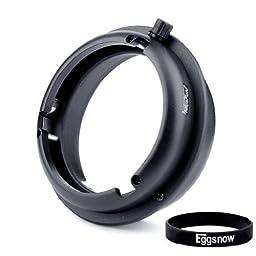 Eggsnow Interchangeable Adapter (Elinchrom to Bowens Mount) for Indoor & Outdoor Studio Flash