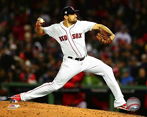 "Nathan Eovaldi Boston Red Sox 2018 MLB World Series Action Photo (Size: 8"" x 10"")"