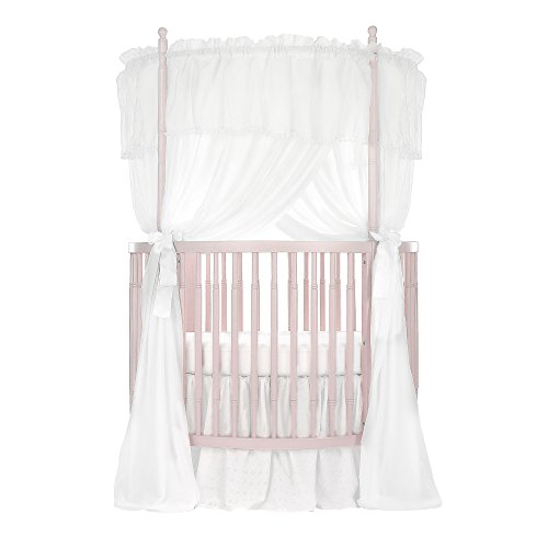 Dream On Me Sophia Posh Circular Crib, Blush Pink