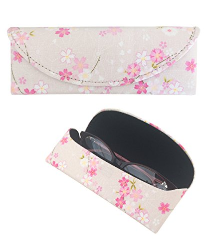 Yulan Women's Magnetic Soft Glasses Case, Linen Floral Patterns Case for Eyeglasses and Sunglasses