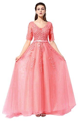 Aiyana - Vestido - Sin mangas - para mujer rojo sandía