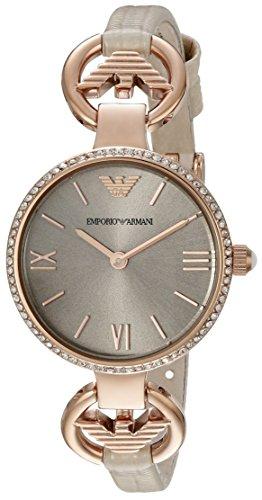 Emporio Armani Women's AR1886 Classic Analog Display Analog Quartz Beige Watch