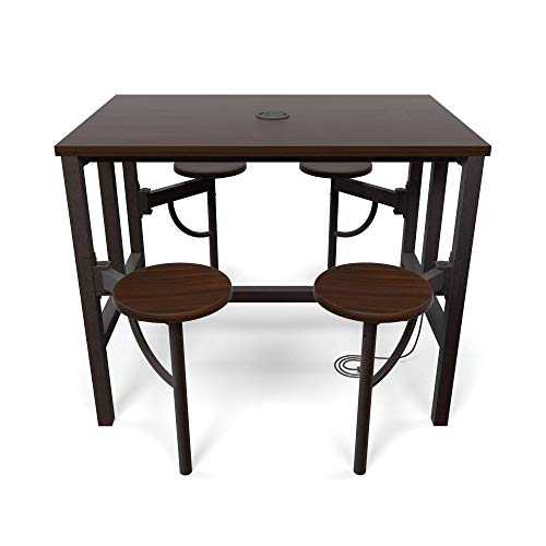 OFM 9004-WLT-WLT Model 9004 Endure Series Standing Height 4 Seat Table, 38'' Height, 31.25'' Width, 47.625'' Length, Walnut by OFM (Image #2)