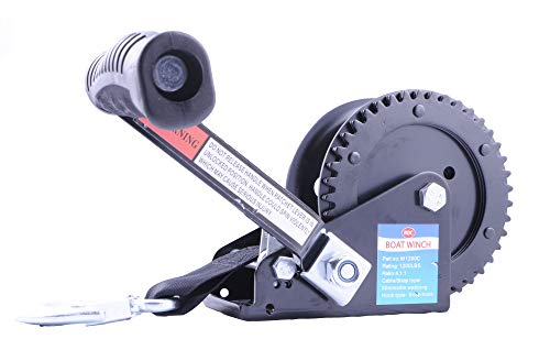 Galvanized Dual Drive Winch with 25-Foot Strap ()