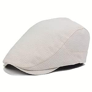 Dhm-womens hat Fashion Gorra de Boina doblada Lavada de algodón ...