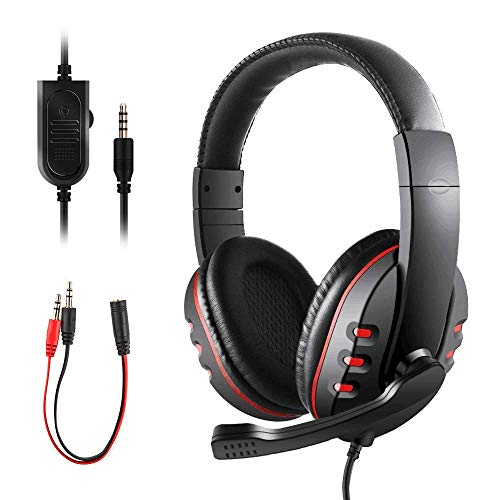 PS4 Headset, JAMSWALL Gaming Headset for Xbox One S PS4 3.5mm Wired Over-head Stereo Gaming Headset Headphone with Mic…