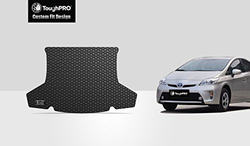 ToughPRO Cargo/Trunk Mat Compatible with Toyota Prius - All Weather - Heavy Duty - (Made in USA) - Black Rubber - 2010, 2011, 2012, 2013, 2014, - Prius Liner Cargo