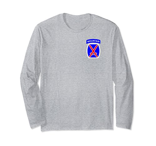 Mountain 10th Infantry Division (Unisex 10th Mountain Division Army Infantry Military Soldier Shirt XL: Heather Grey)