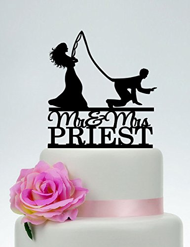 Funny Custom Fishing Mr And Mrs With Last Name Outdoor Gone Fishing Wedding Custom Cake Topper For Wedding Anniversary Cake Topper Funny Wedding Present For The Couple by Dikoum