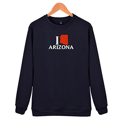 ove az Embroidered Adult Crew Sweatshirt Long Sleeves Shirts (Arizona Embroidered Long Sleeve)