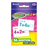 BAZIC Addition Flash Card, 36 Per Pack