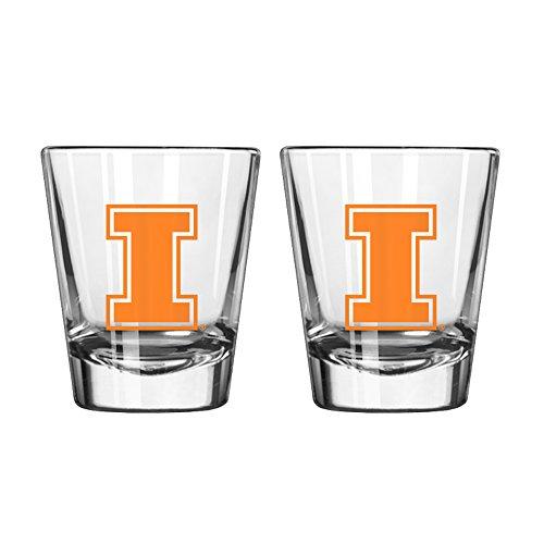 NCAA Illinois Fighting Illini Game Day Shot Glass, 2-ounce, (Illinois Fighting Illini Beer)