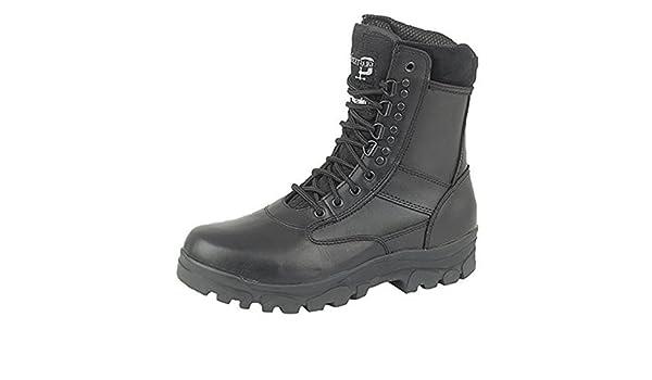 Grafters pierna alta Botas De Combate Con Acero Suela Protección Policía Seguridad Ejército Cadete Botas De Seguridad - Top Gun negro, 46: Amazon.es: ...