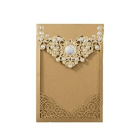 Tarjetas Y Invitaciones 50 Piezas De Oro Rojo Cortado A