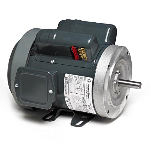 Marathon 5KC49TN0067 General Purpose Motor, 1 Phase, TEFC, C-Face, Ball Bearing, 1 hp, 1800 RPM, 1 Speed, 115/208-230 VAC, 56C Frame, Capacitor Start ()