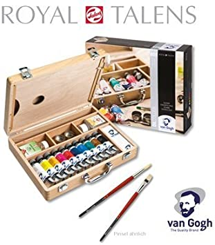 Van Gogh Basic Wooden box Oil colour by Van Gogh: Amazon.es: Hogar