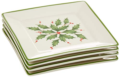 Lenox Hosting the Holidays Tidbit Plates, Set of 4