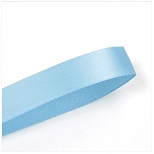 Double Face Satin Ribbon 1/2 Inch 100 Yard Roll Blue Mist