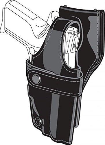 Safariland 0705 Level III 1.5-Inch Drop Retention Duty Holster, Low Ride, Black, Nylon Look Left Hand, - Duty Holster 0705 Safariland